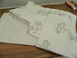 Next reversible superking duvet set grey floral/ stripe