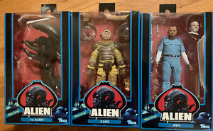 "NECA Alien 40th Anniversary Kane-Ash-Alien - 7"" Action Figure Set Of 3"