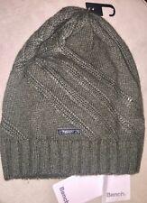 Bench Hagan B Beanie Hat wool blend khaki green