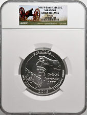2015-P 5oz SILVER 25C Saratoga NGC SP 69 Early Releases must see!