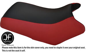 DARK RED & BLACK VINYL CUSTOM FITS YAMAHA BEAR TRACKER 250 SEAT COVER