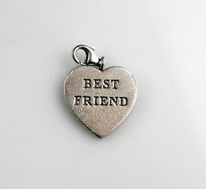 Thomas Sabo Designer 925 Sterling Silver  Best Friend Heart Charm