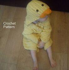 Duck Kids Bathrobe Dressing Gown Crochet Pattern by Peach.unicorn