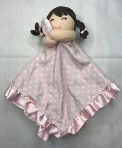Carters Pink White Polka Dots Girl Lovey Security Blanket