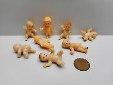 Vintage - Eight Doll House Miniature Plastic  Baby and Toddler Dolls - Hong Kong