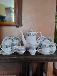 Vintage Paragon Cherwell Fine Bone China Coffee Pot,6 Cup/Saucers, milk & sugar.