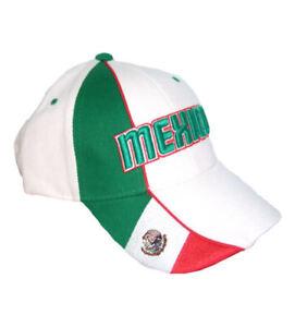 Mexiko Flag Cap Kappe Schildkappe Mexico 3-D Stick Fahne Mütze Fussball Fans NEU