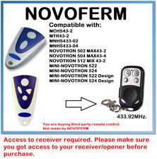 NOVOFERM NOVOTRON 502 MAX43-2, 504 MAX43-4 Compatible Remote Control 433.92MHz.