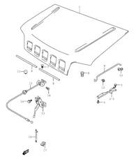 NEW Genuine Suzuki JIMNY BONNET HOOD RELEASE CABLE Latch Handle 82160-81A00