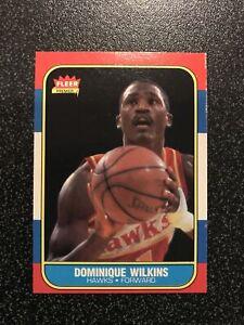 DOMINIQUE WILKINS 1986-87 Fleer ROOKIE RC CARD# 121 ATLANTA HAWKS