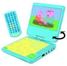LEXIBOOK DVDP 6PP Peppa Pig reproductor portátil de DVD con adaptador de coche y remota/Nuevo