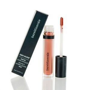 bareMinerals Gen Nude Matte HEMP Lipstick Liquid 0.13 OZ (3.9 ML) NEW IN BOX