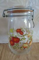 Vtg Spice of Life Hinged Glass Jar Canister  container Made in France 1 liter