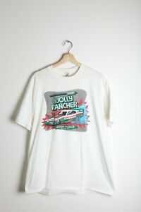 Vintage John Force Leaf Candy Jolly Rancher Funny Car Racing T-Shirt XL NHRA