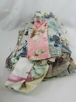 BARK CLOTH fabric SCRAPS Lot Cotton Textured vintage 48480 Pebble
