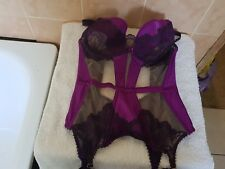 Ann Summers Orchid Purple & Nude Corset Basque   Size 14 New With Tags