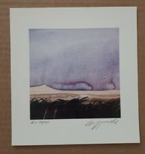 Hans J. Pohl  ORIGINAL LITHOGRAPH PRINT ABSTRACT landscape purple German