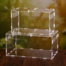 Acrylic Assembled Reptile Breeding Box Transparent Insect Terrarium Breathable