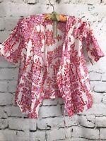 Plum Pretty Sugar Floral Pink Kimono Robe Bell Sleeve Toddler Girls Size 2/3