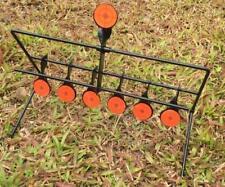 7x Targets Self Resetting Spinning Air Gun Rifle Shooting Metal Target Set