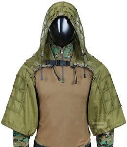 Ghillie Suit Sniper Viper Hood Top Hunting Accessories Base Airsoft Adjustable