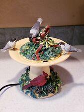 Lenox Winter Greetings Bird Bath Fountain For Holidays w/Original (damaged) Box