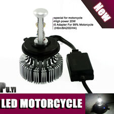 20W H4 H6M BA20d LED Motorcycle Bike Bulb Hi/Lo Beam Lamp Light CREE 6000K