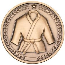 MARTIAL ARTS MEDALLION - ANTIQUE GOLD 2.75in PACK OF TEN