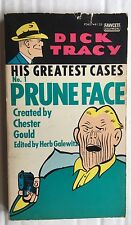 Fawcett Gold Medal Dick Tracy His Greatest Cases No. 1 Pruneface Comic Book 1975