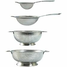 """New listing Stainless Steel Strainers And Colanders Set - 4 Pieces Kitchen """" Dining"""