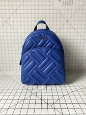 NWT Michael Kors Abbey Medium Quilted Backpack Leather Bag Cobalt Blue