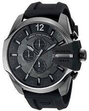 NEW DIESEL Chief Black Dial Black Silicone Men's Chronograph Quartz Watch DZ4378