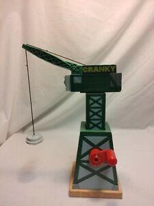 2012 Mattel Cranky the Crane Thomas Wooden Railway Friends Wood Train
