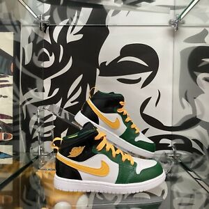 NEW! Nike Jordan 1 Mid Seattle Supersonics Original Classic Kid's Size 11.5C