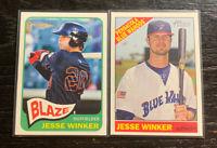 Jesse Winker Prospect Lot(2) 2014 2015 Topps Heritage Minors Cincinnati Reds