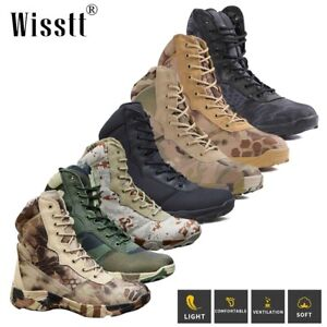 Hot Mens Waterproof Military Tactical Boots Motorcycle Combat Ankle Hiking Boots