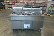New Listing3787 Used Vulcan 85 90 Lbs 3 Bank Deep Fryer With Filtration Model 3gr85mf 1