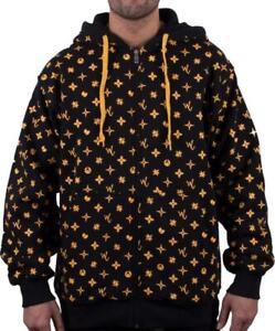 Wu-Wear Wuitton Zip Zipper Black Hoody Hoodie Wu-Tang Clan Wu Tang
