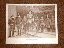Il velocipedismo nel 1894 Velocipede sulle rotaie Velocipedisti Invenzione