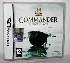 COMMANDER EUROPE AT WAR GIOCO USATO OTTIMO DS & 3DS EDIZIONE ITALIANA FR1