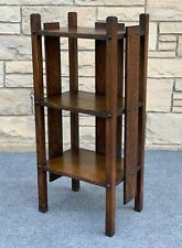 Antique Arts & Crafts Mission Style Quarter Sawn Oak 3 Shelf Book Case - 36""