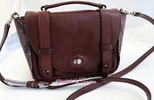 New w Tag COACH 32385 Bleecker Emb. Python Leather Mini Messenger Shoulder Bag