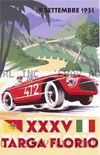 1951 Targa Florio automobile auto race advert ca 8 x 10 print prent poster