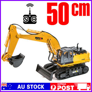 2.4 RC 1:16 Remote Control Excavator Engineering Toy Digger 1510 Car Truck Huina