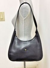 100% Authentic Made in Italy Bally Black Pebbled Leather Hobo Shoulder Bag,