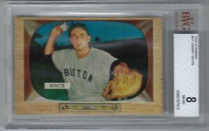 Sammy White 1955 Bowman #47  Boston Red Sox BVG 8