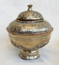 Antique Chinese Lidded Pot - Silver & Copper pre 1900