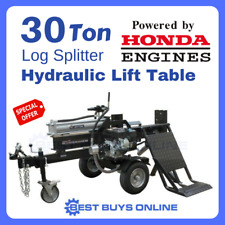 Log Splitter Honda GX200 30 Ton with Hydraulic Lifting Table Wood Cutter Axe