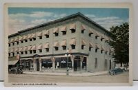 Chambersburg Pa The Hotel Wallace Postcard D10