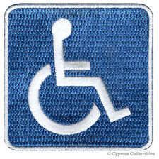 HANDICAPPED SIGN embroidered PATCH PARKING STREET ROAD SIGN iron-on DISABLED new